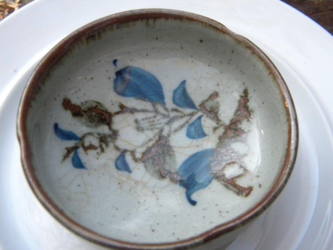"Antique Porcelain Tray, diameter 4"""