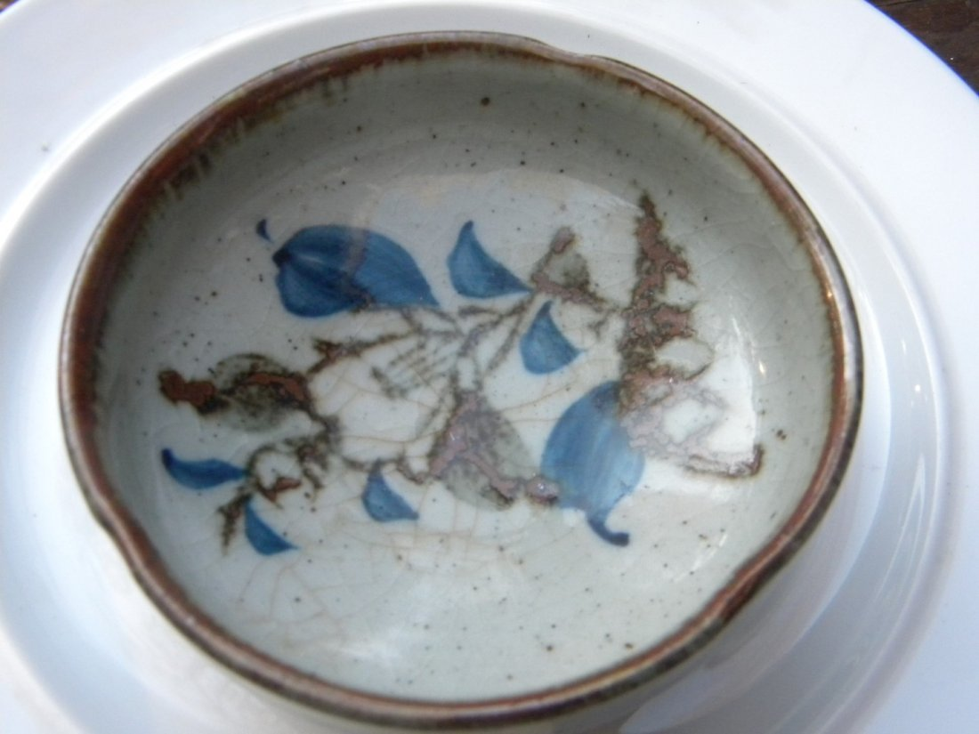 "Antique Porcelain Tray, diameter 4"" - 2"