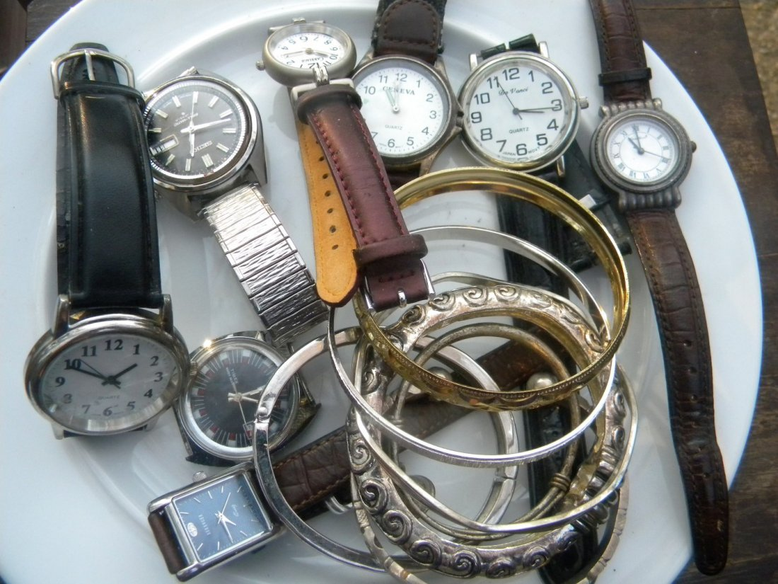 Group of Watches and Bracelets