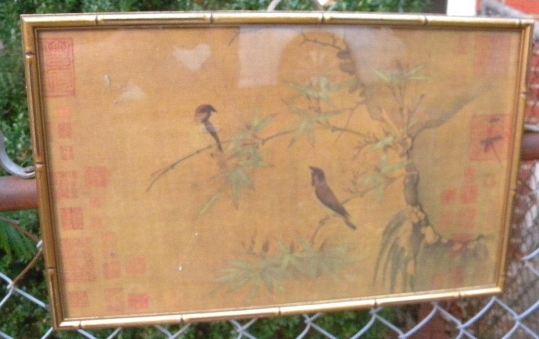 Antique Chinese Painting Framed - 2