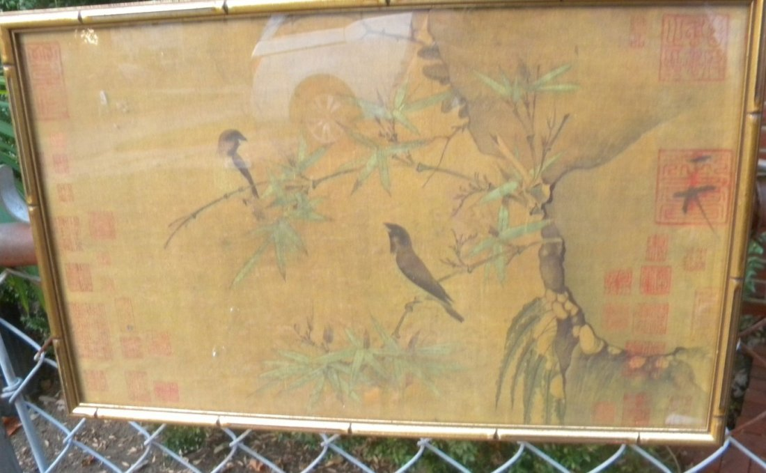 Antique Chinese Painting Framed - 3