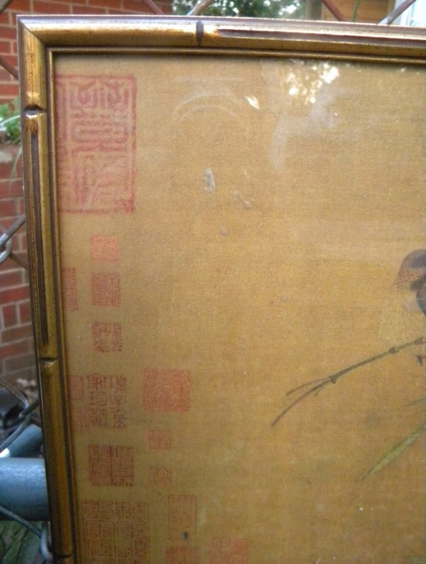 Antique Chinese Painting Framed - 4