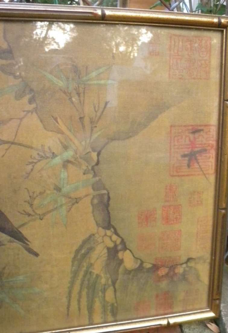 Antique Chinese Painting Framed - 5