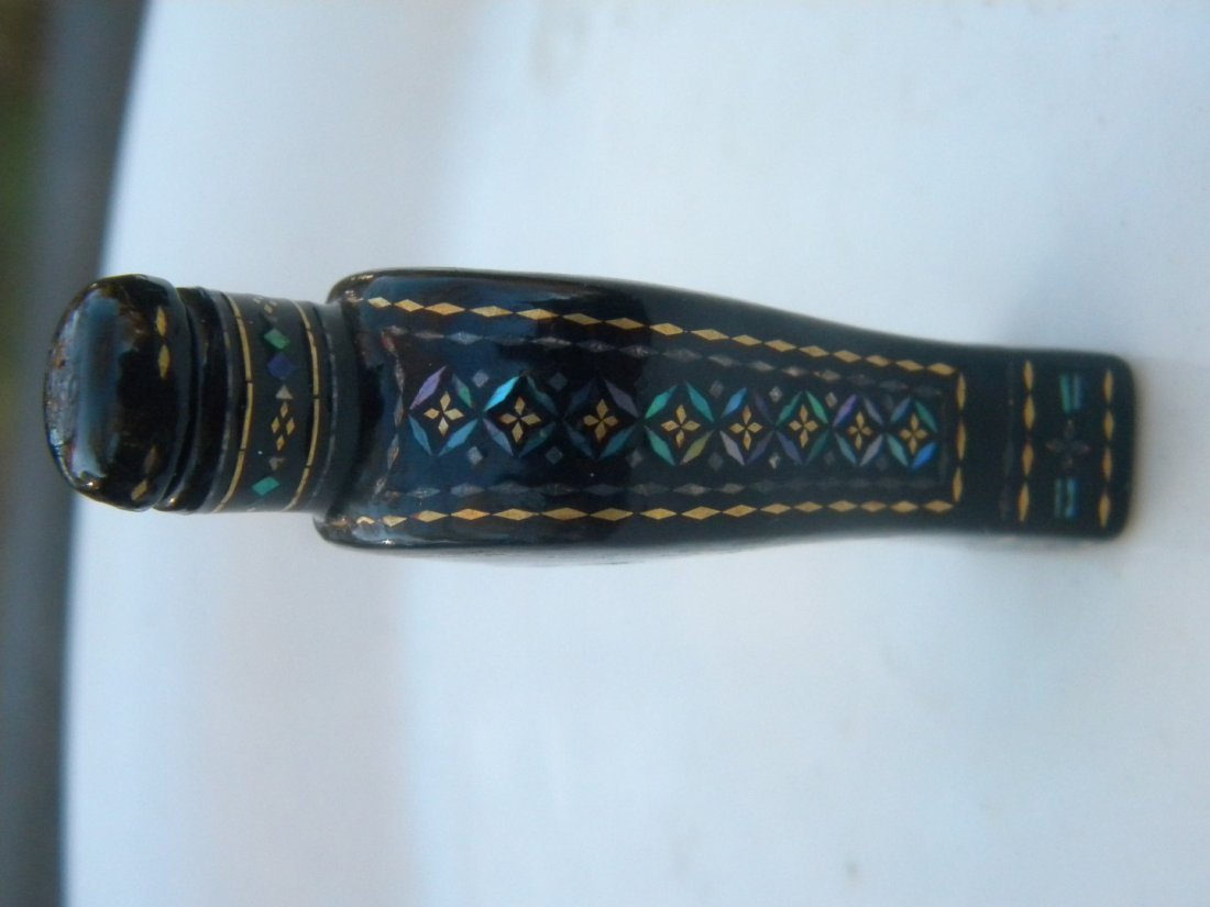Antique Chinese Lacquer Snuff Bottle - 4