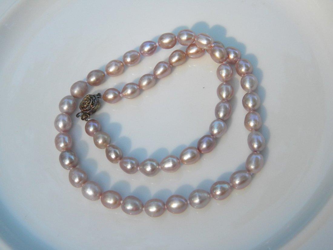Vintage Purple Pearl Necklace