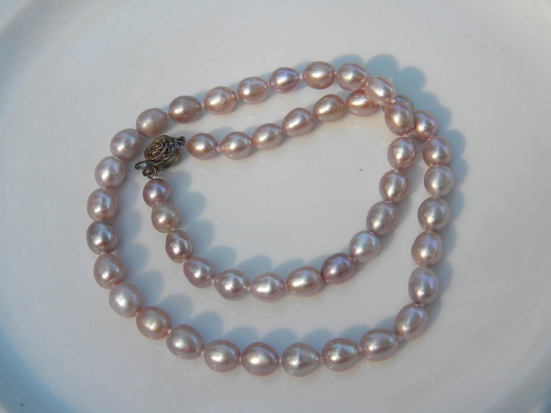 Vintage Purple Pearl Necklace - 2