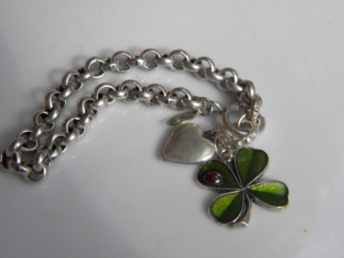 Silver Flower Bracelet - 3