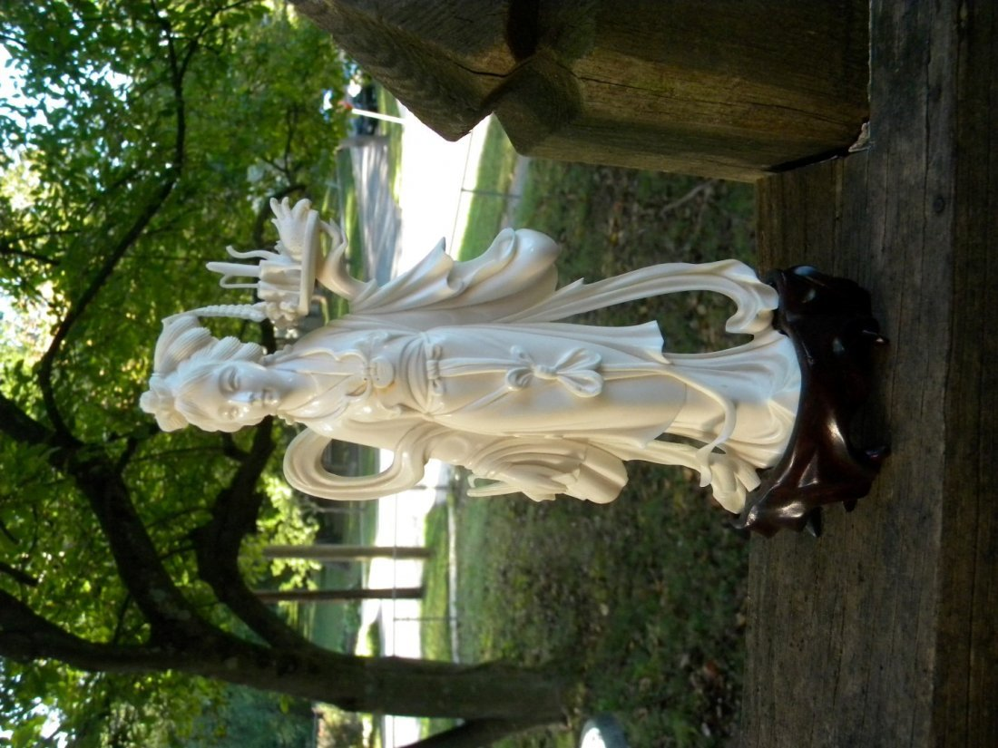 Antique Carved Beauty Statue - 2