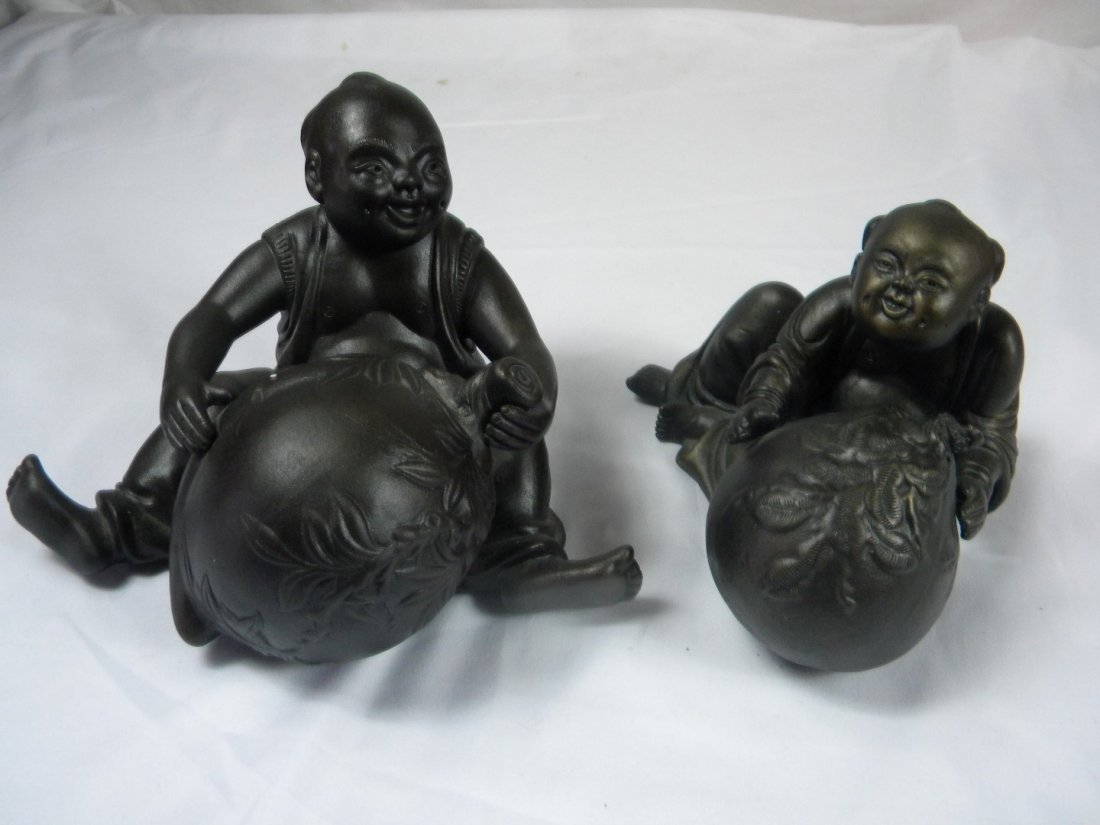 Pair of Boy Statues - 2