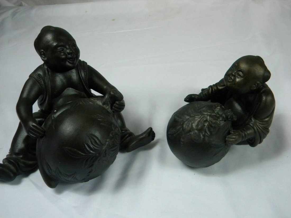Pair of Boy Statues - 4