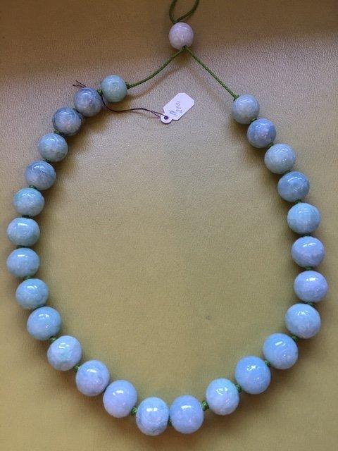 Carved jade necklace