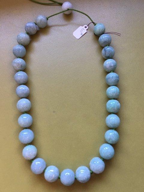 Carved jade necklace - 5