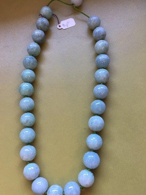 Carved jade necklace - 7