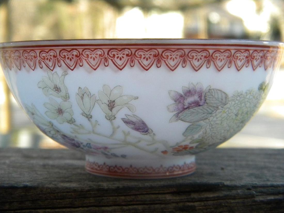 Antique Chinese Egg Shell Bowl Marked