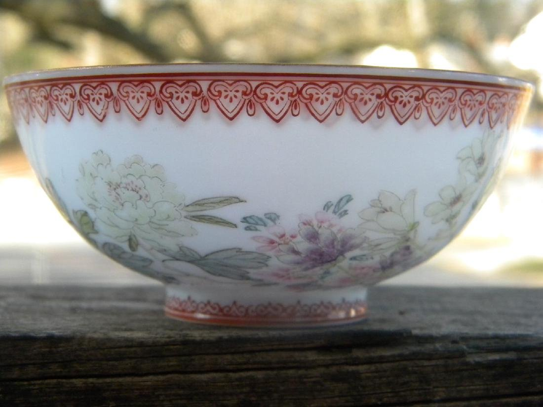Antique Chinese Egg Shell Bowl Marked - 2