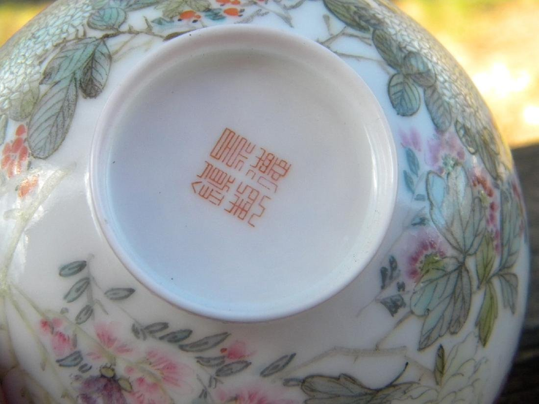 Antique Chinese Egg Shell Bowl Marked - 4