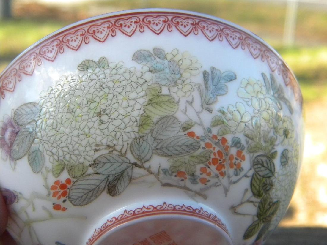 Antique Chinese Egg Shell Bowl Marked - 5