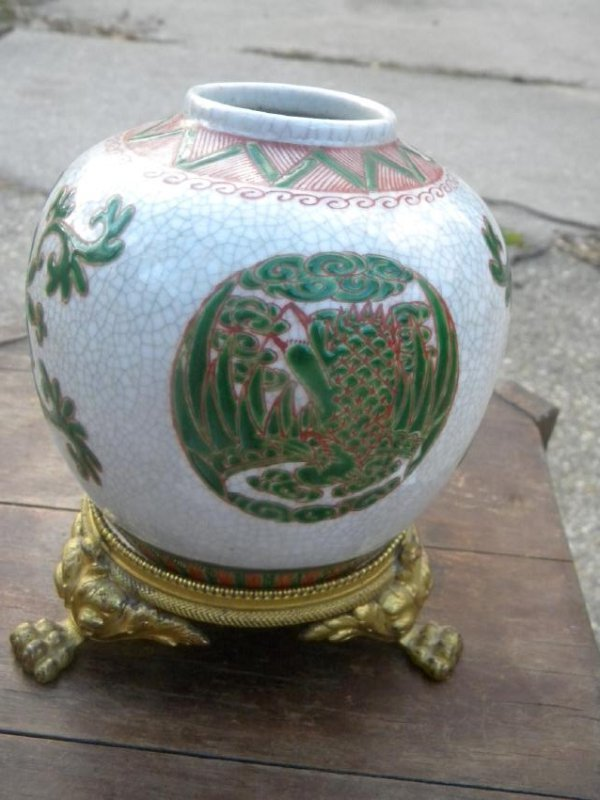 Antique Chinese Pink Glazed Famille Rose Vase