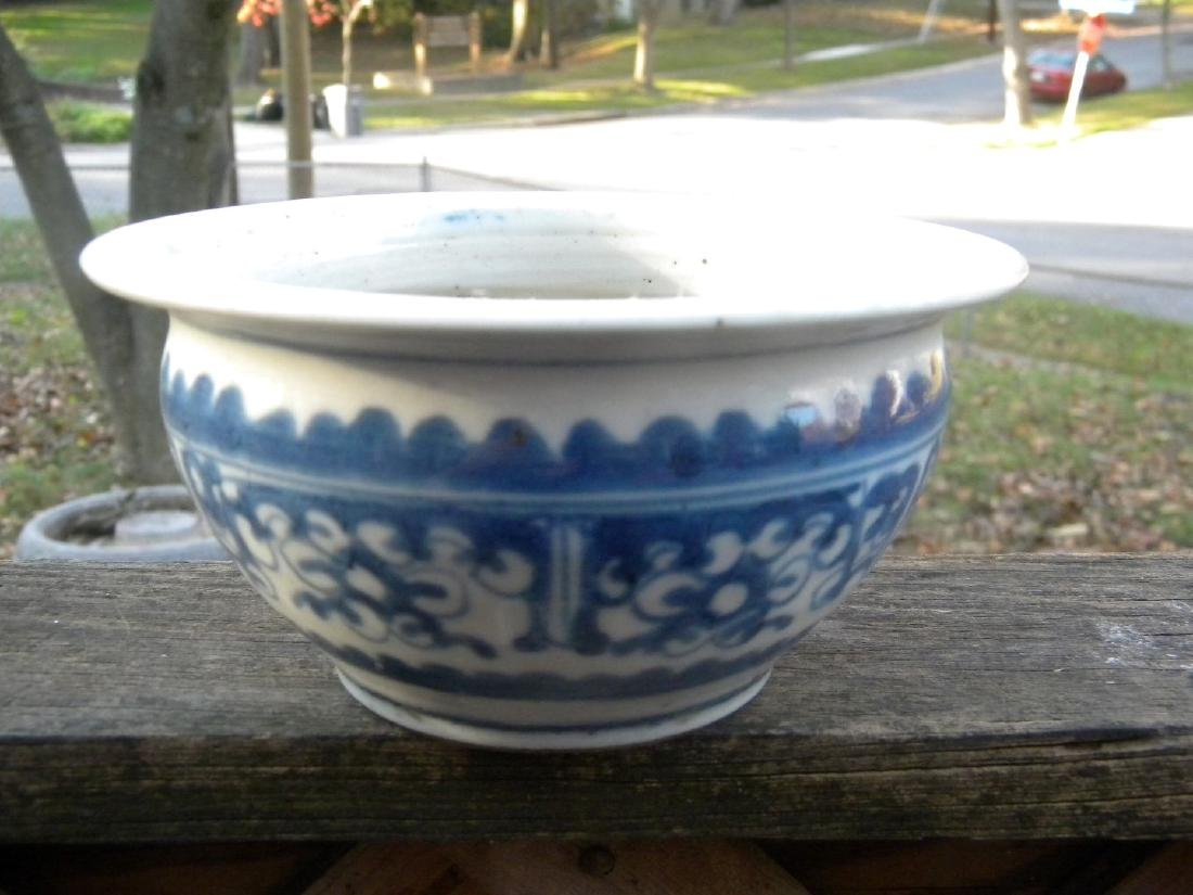 Antique Chinese Blue and White Bowl, diameter 6""