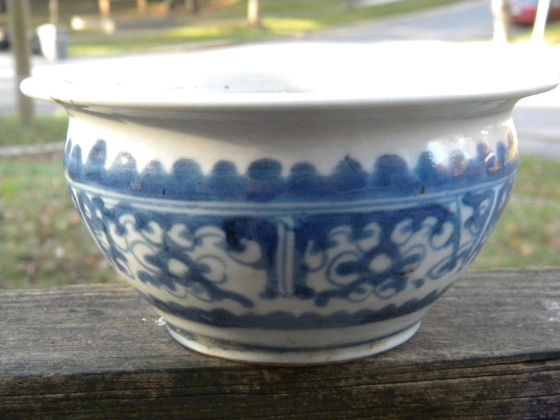 "Antique Chinese Blue and White Bowl, diameter 6"" - 3"