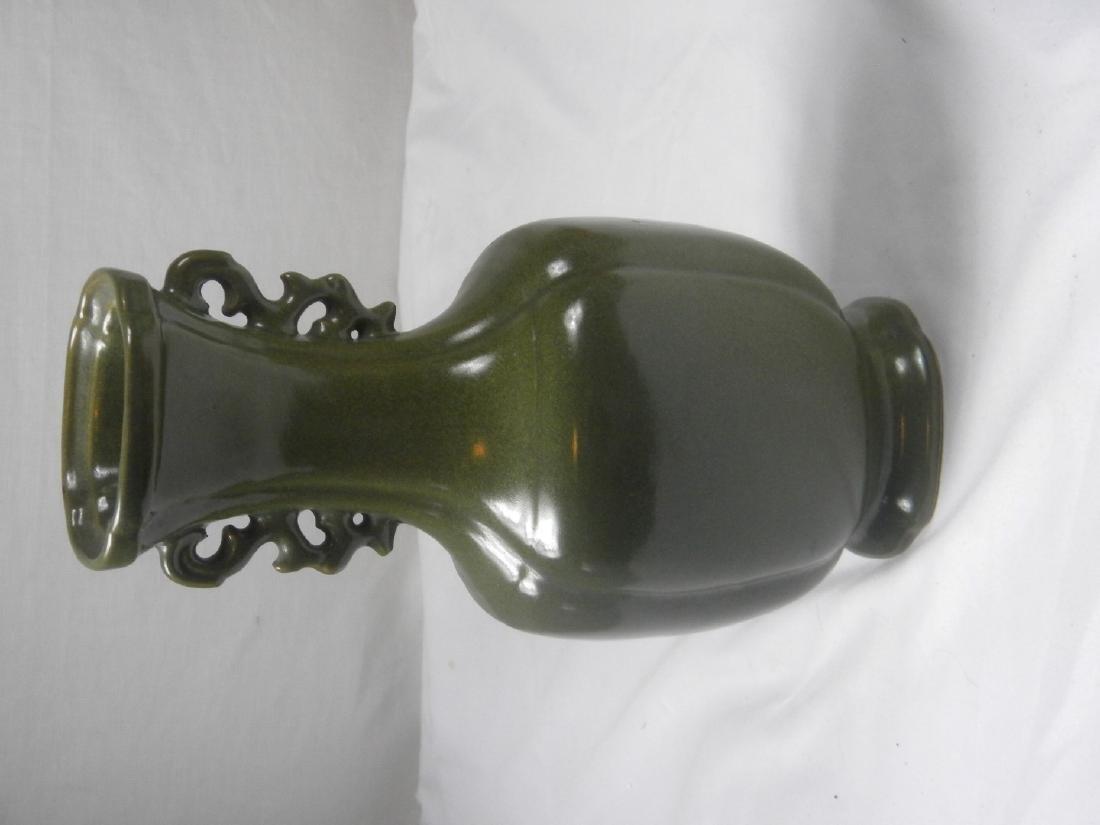 Antique Chinese Tea Color Glazed Vase - 2