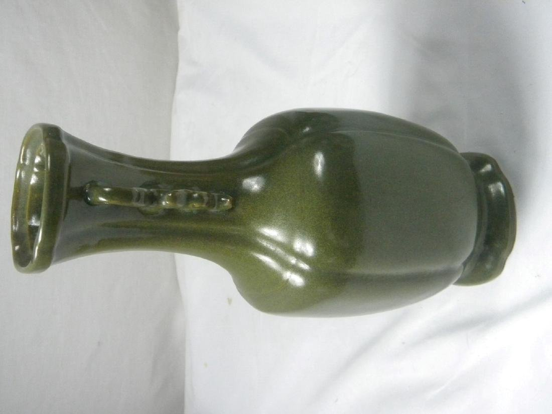 Antique Chinese Tea Color Glazed Vase - 3