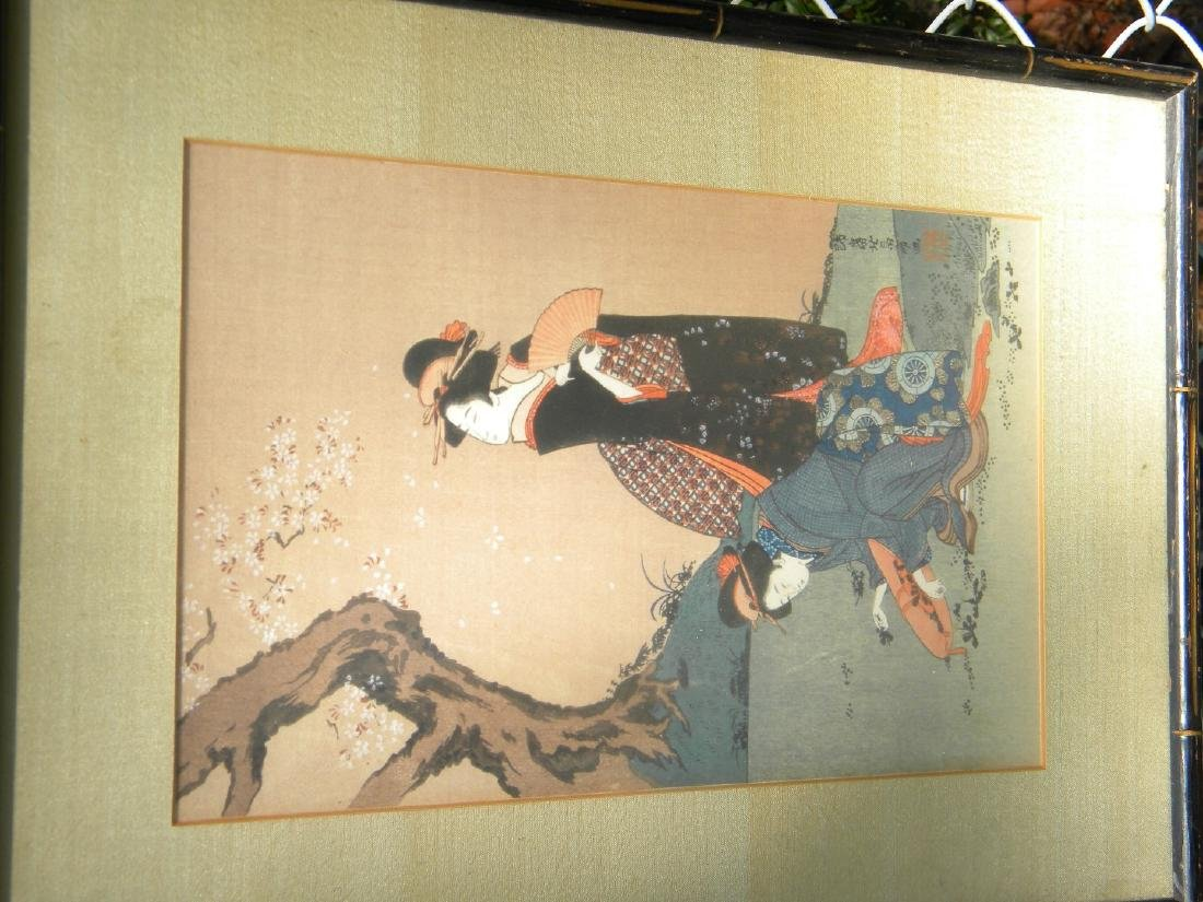 Antique Japanese Painting of Two Girls - 3
