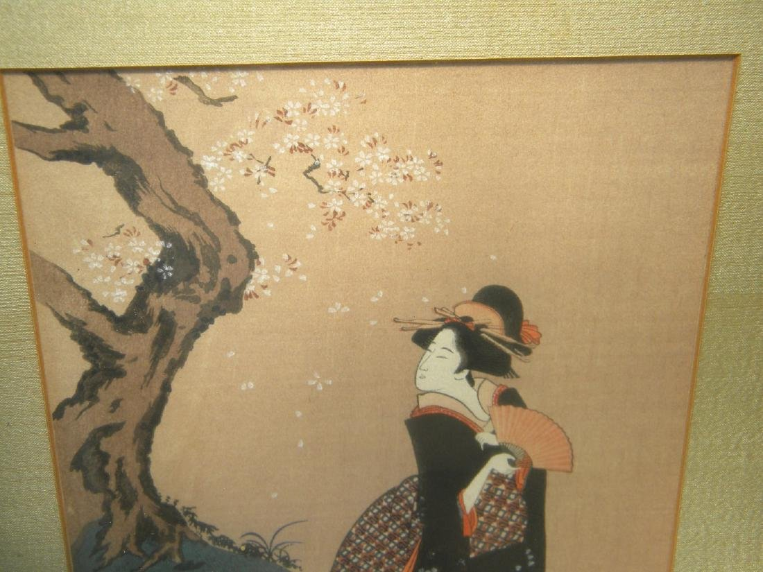 Antique Japanese Painting of Two Girls - 4