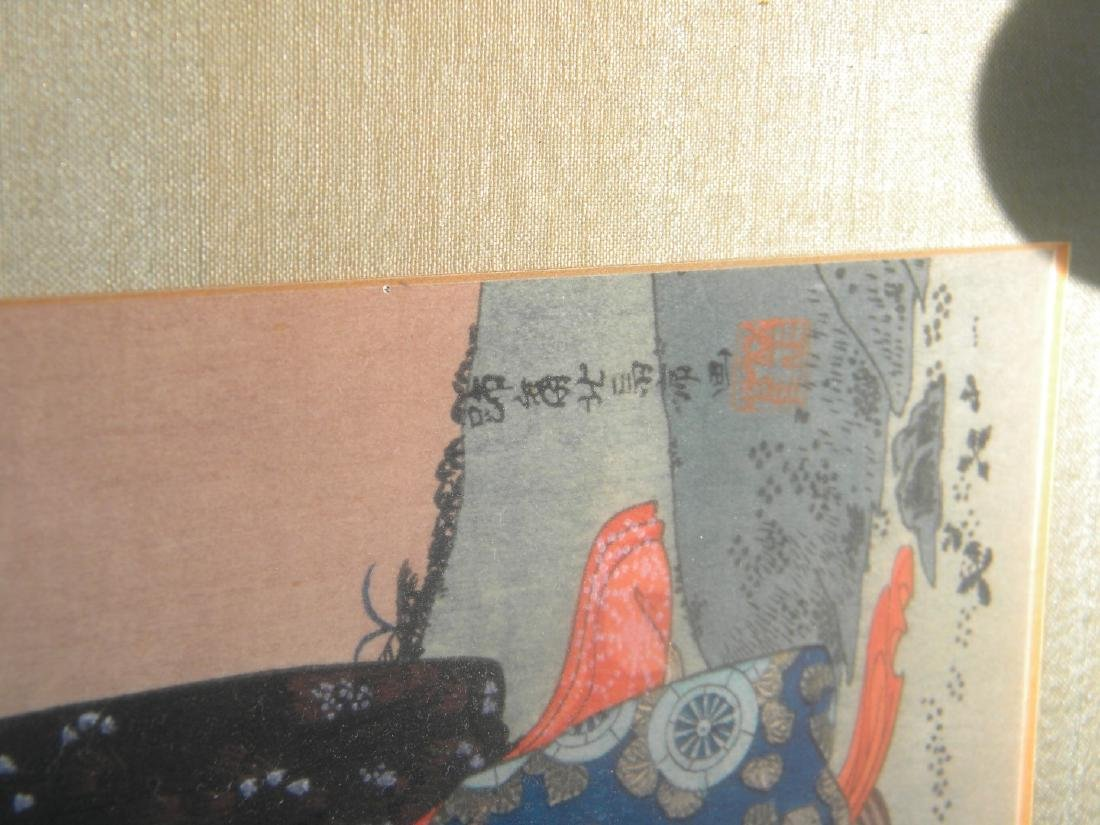 Antique Japanese Painting of Two Girls - 5