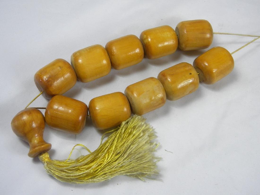 Huge Chinese Wood Prayer Beads - 2