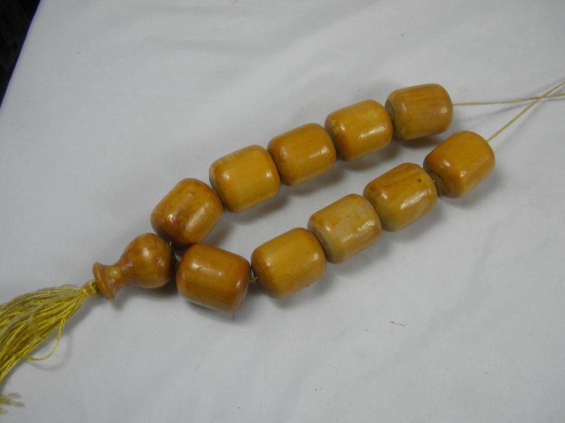 Huge Chinese Wood Prayer Beads - 4
