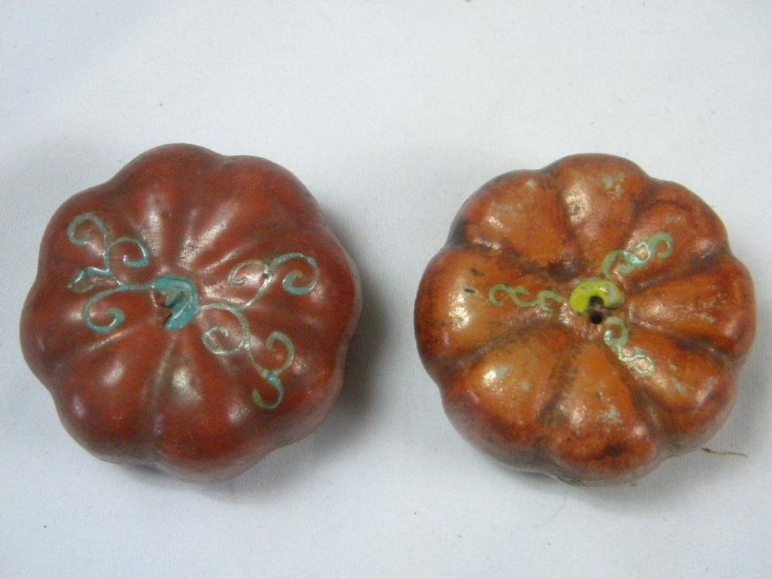 Pair of Antique Chinese Porcelain Pumpins - 3