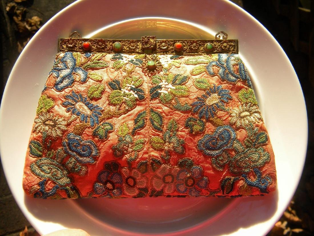 Antique Chinese Embroidery Purse - 2