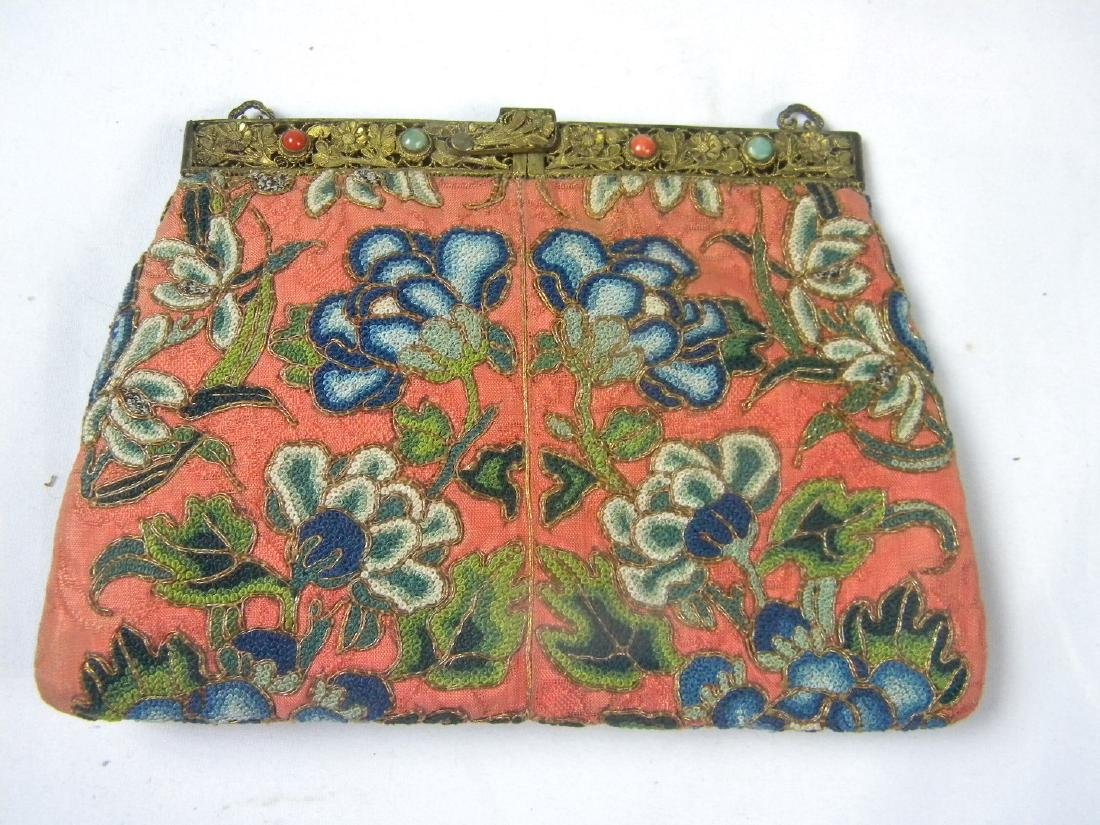 Antique Chinese Embroidery Purse - 3