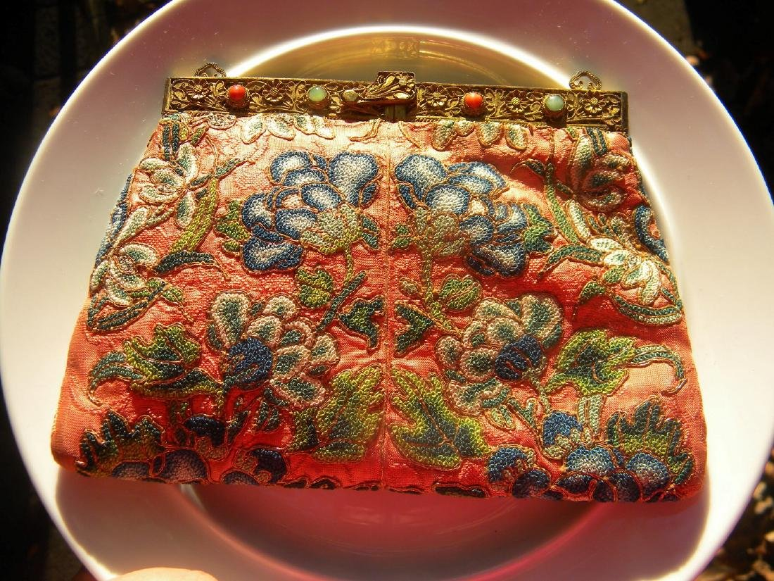 Antique Chinese Embroidery Purse - 5