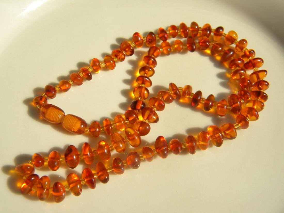 Antique Baltic Amber Necklace - 2