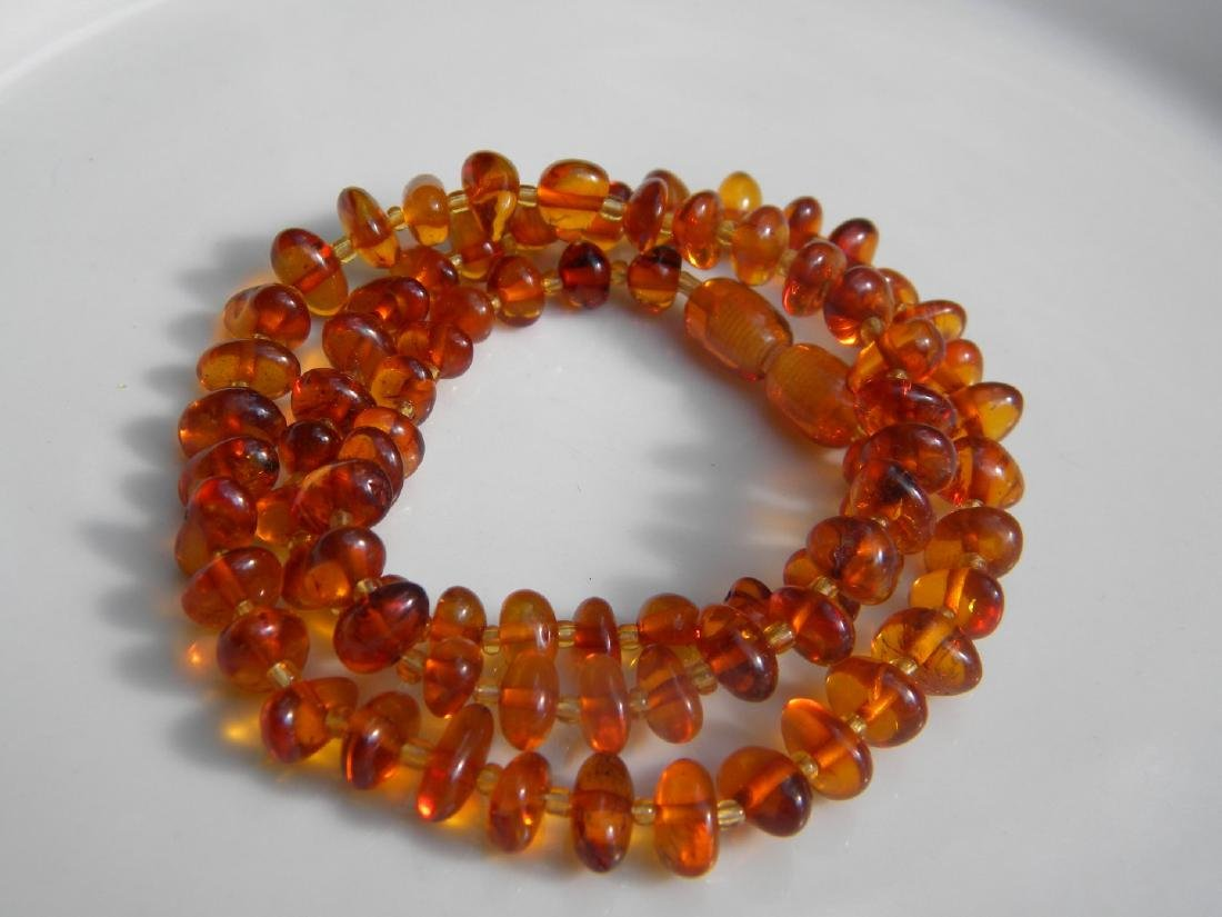 Antique Baltic Amber Necklace - 3