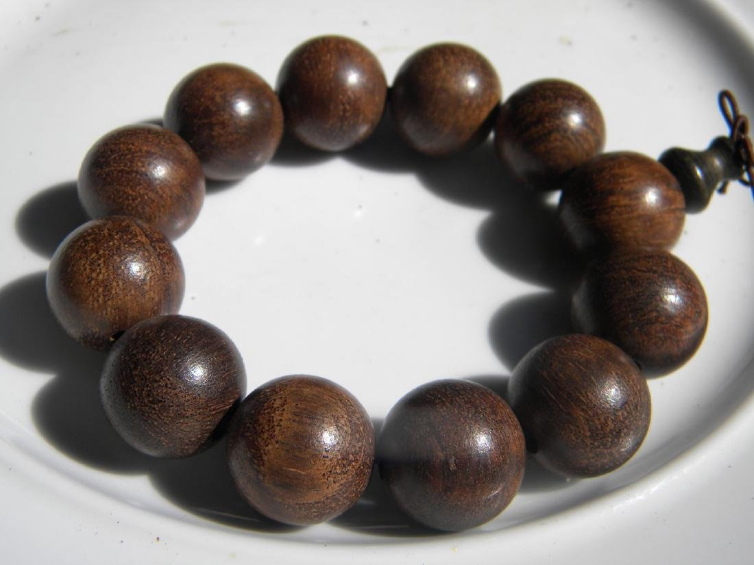 Antique CHINESE BUDDAH Chen Xiang PRAYER BEADS BRACELET