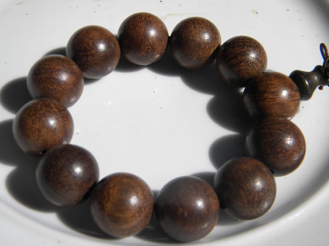 Antique CHINESE BUDDAH Chen Xiang PRAYER BEADS BRACELET - 3