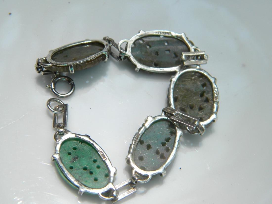 Antique Chinese Green Jadeite Bracelet - 4