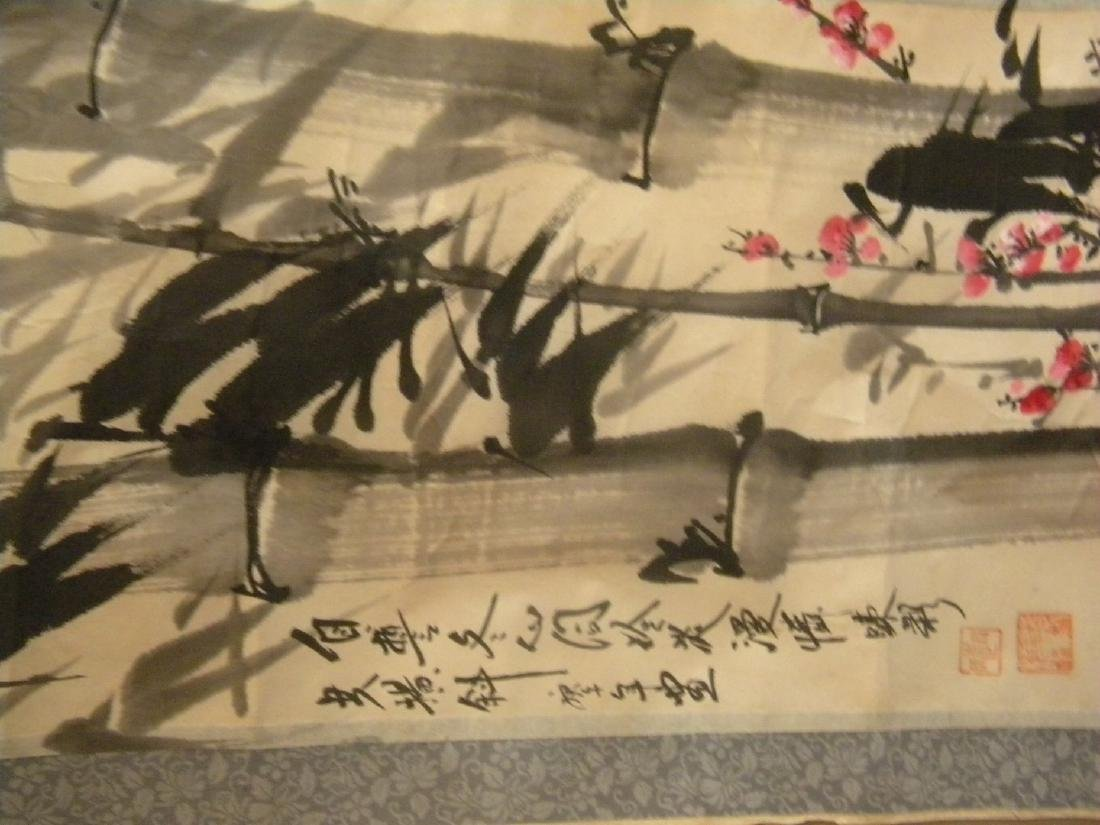Vintage Chinese Painting of Bamboo and Flower - 6