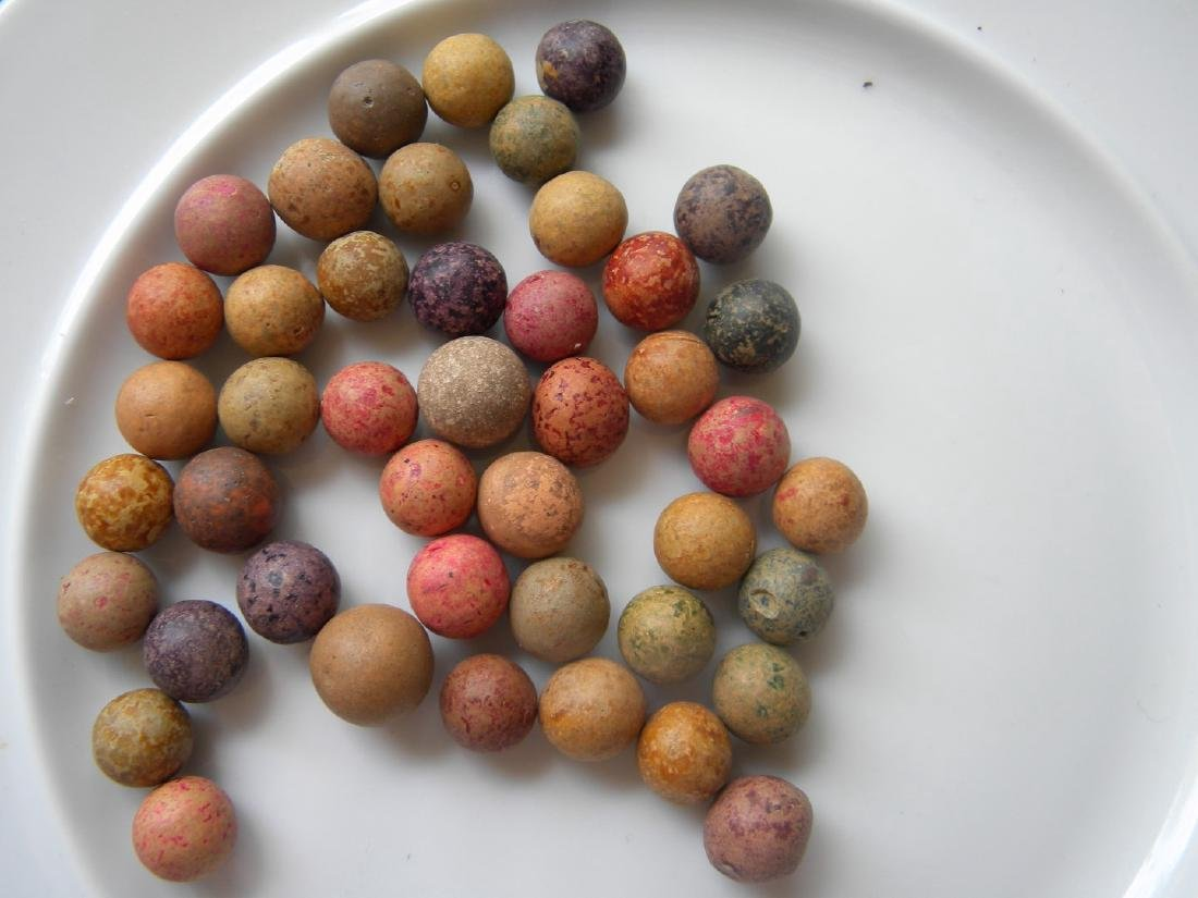 Antique Multi Color Marble Beads
