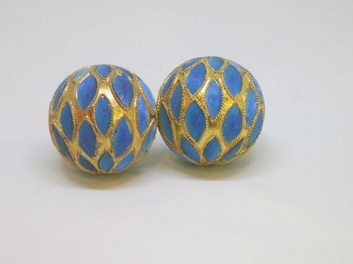 Two Kingfisher feather beads