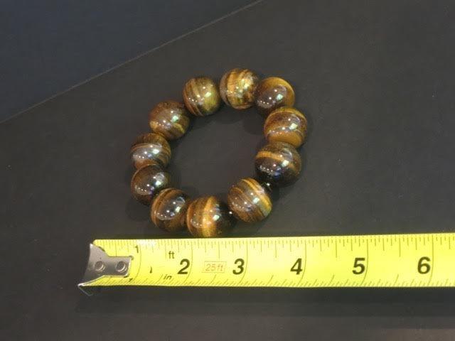 Large tiger's eye beads bracelet - 2