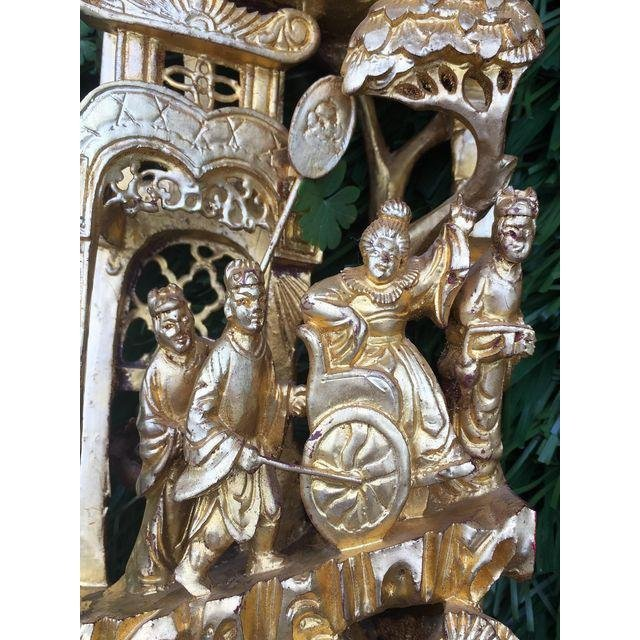 Chinese Gilt Wood Battle Scene Triptych - Set of 3 - 7
