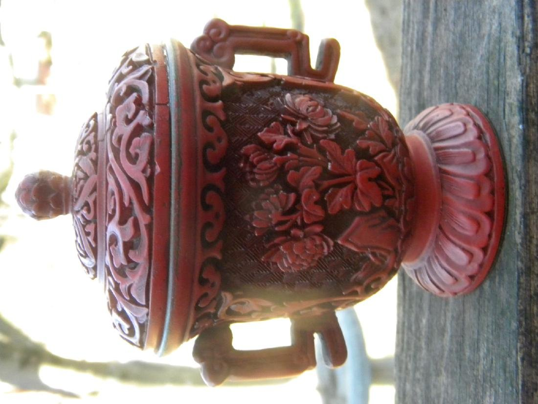 Antique Chinese Laquer Cup with Cover - 2