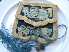 Antique Chinese Embroidery Purse