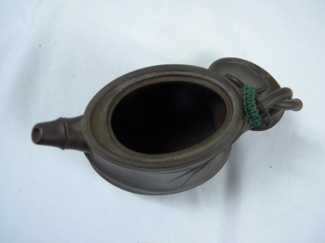 Antique Chinese Yixing Zisha Bamboo Teapot - 3