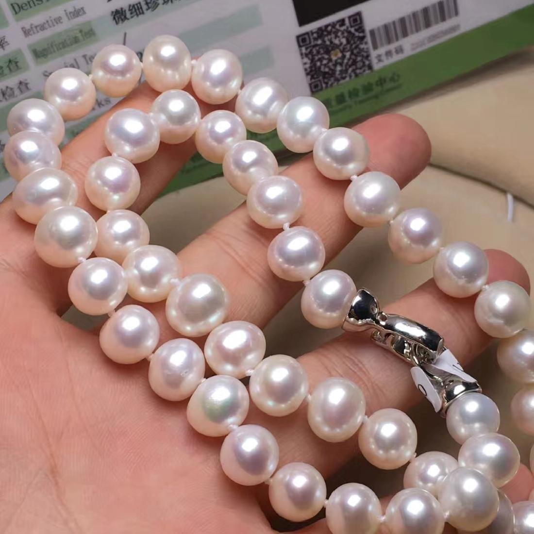 Natural Pearl with Certificate in Original Box - 4