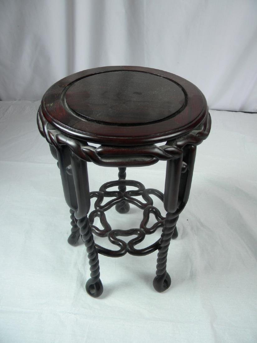Antique Chinese Rosewood Stool - 2
